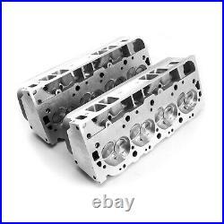 BBC Aluminum Cylinder Heads OVAL PORT 454 320cc 115cc 2.25/1.88 assembled set 2