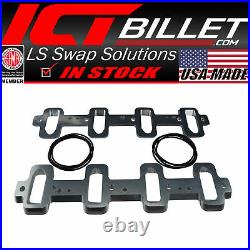 LS Rectangle Port Cylinder Head to Cathedral Intake Adapters